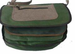Morral trufero fabricado en lona y serraje 1